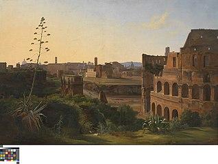 Gezicht op het Colosseum in Rome