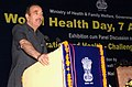 """Ghulam Nabi Azad addressing at the inauguration of the exhibition cum Panel Discussion on """"Uranisation and Health – Challenges & Solutions"""", on the occasion of the World Health Day, in New Delhi on April 07, 2010.jpg"""