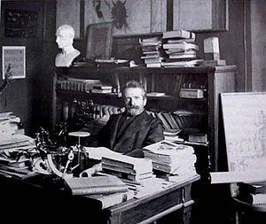 Giacomo Boni (archaeologist) - Giacomo Boni in his study