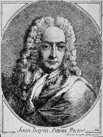 Giambattista Pittoni - Portrait of Pittoni by Alessandro Longhi, 1762