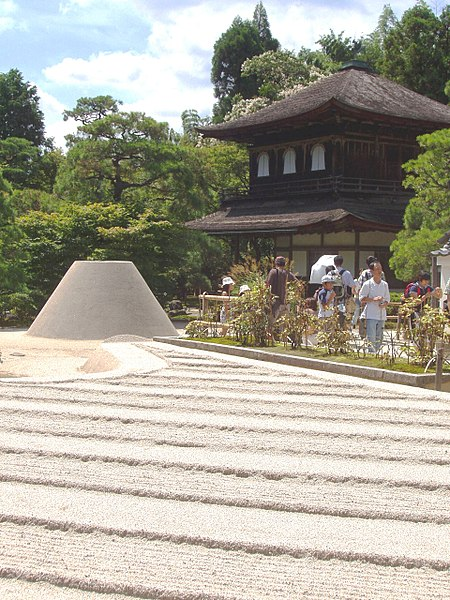 File:Ginkaku-ji with sand garden.JPG