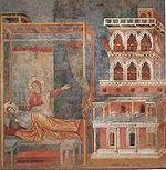 """""""Sonho do palácio"""", atribuído a Giotto."""