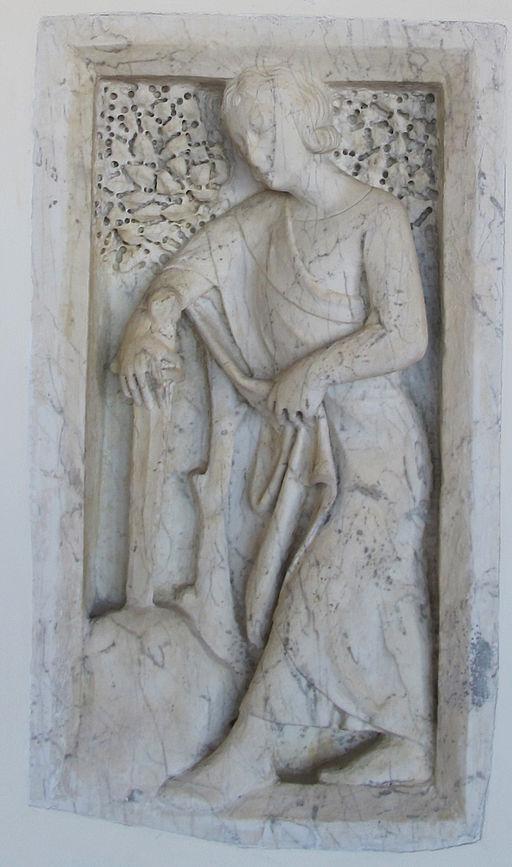 Giovanni di agostino, san galgano conficca la spada nella roccia, 1332-1347 ca