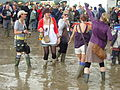Glastonbury Festival attendees standing in the mud (2007).jpg
