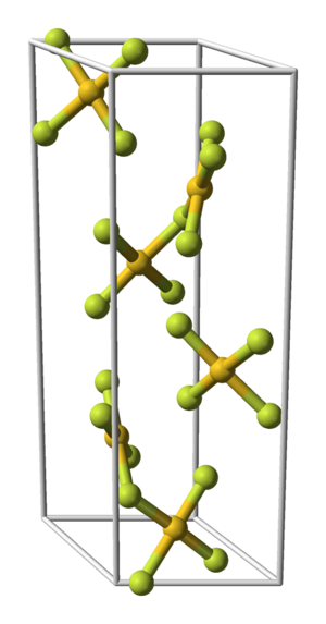 Gold(III) fluoride - Image: Gold trifluoride unit cell 3D balls