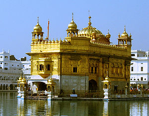 Religion in India - Harmandir Sahib, commonly known as the Golden Temple, in Amritsar