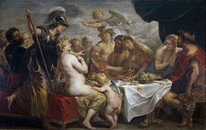 Eris (mythology) - Golden apple of discord by Jakob Jordaens, 1633