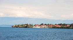 Goma City on the shore of Lake Kivu, Democratic Republic of the Congo