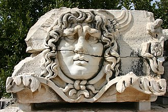 Didyma - A stone-carved Medusa head