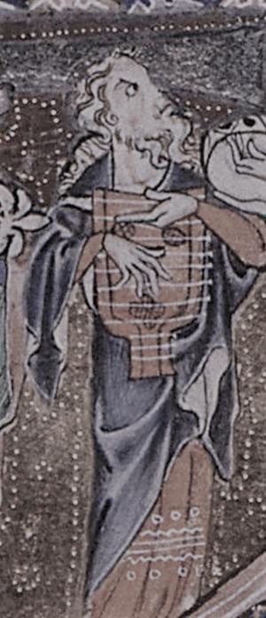 Psaltery - Psaltery player from the Gorleston Psalter, c. 1310–1326.