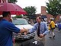 Gov. Warner at the Local 675 Covington Labor Day Parade (235245381).jpg