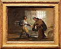 Goya, storie di fra pedro e il maragato 03 fra pedro offre le sue scarpe al maragato e si prepara a scacciare il fucile, 1806 ca.jpg
