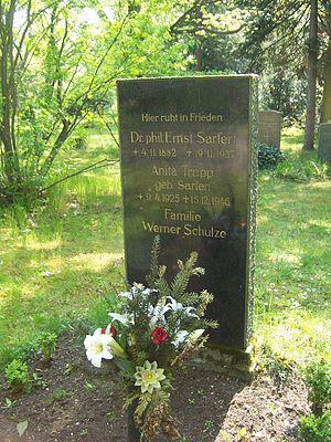 Ernst Sarfert - Gravesite of Ernst Sarfert at the Südfriedhof in Leipzig