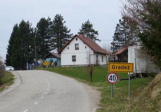 Gradež, Velike Lašče Place in Lower Carniola, Slovenia