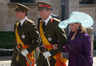 Henri, Grand Duke of Luxembourg - The Grand Duke with his wife and heir apparent