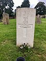 Gravestone of Gunner George Thomas Hance of the Royal Garrison Artillery at Amersham Consecrated Cemetery, September 2020.jpg