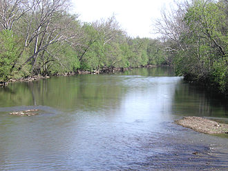 Great Miami River - The Great Miami River near Vandalia