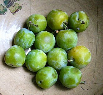 Chenin blanc - The aroma of greengages are a common descriptor for Chenin blanc wines.