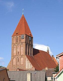 Grimmen Place in Mecklenburg-Vorpommern, Germany