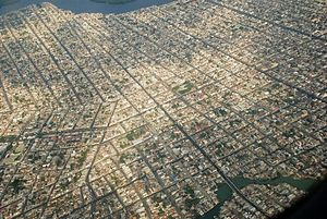 Rafael Correa - Aerial view of Guayaquil, the city where Correa was raised