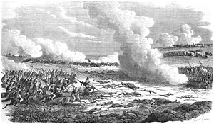 Battle of Estero Bellaco - Battle of Estero Bellaco, 2 May 1866(''L'Illustration: journal universel'', Vol. XLVIII, nº 1.227, 1º/09/1866).