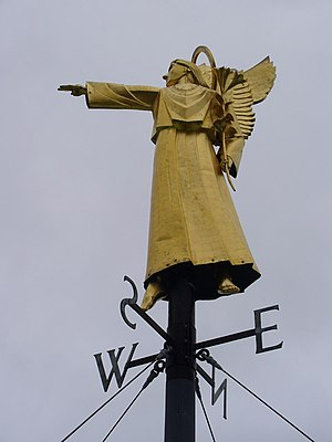 Alan Collins (sculptor) - Guildford Cathedral Weather Vane, designed by Alan Collins