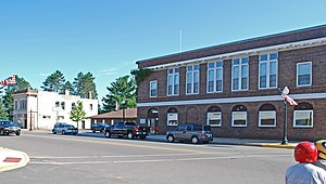 Gwinn, Michigan - Street scene, downtown Gwinn