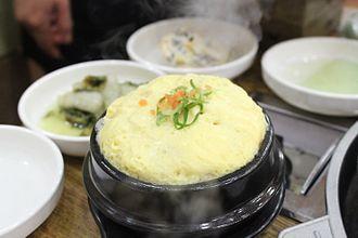 Gyeran-jjim - Gyeran-jjim boiled in a ttukbaegi