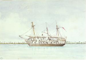 HMS Vindictive (1813) - Image: H.M.S. Vindictive