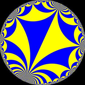 Infinite-order triangular tiling - Image: H2 tiling 33i 4