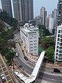 HKU 香港大學 syp MTR tower view 薄扶林道 Pok fu lam Road campus 校園 MTR Station Lift Tower April 2019 SSG 04.jpg