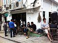 HK 上環 Sheung Wan 太平山街 Tai Ping Shan Street cafe TeaHKa Tea House outdoor sidewalk Jan-2014.JPG