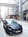 HK 石塘 Shek Tong Tsui 野馬跑車 Ford Mustang race car parking sidewalk in black head Queen's Road West Nov 2016 Lnv3.jpg