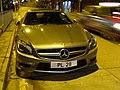 HK SYP Queen's Road West night Benz AMG grey car parking Jan-2016 DSC (2).JPG