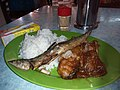 HK TKL 調景嶺 Tiu Keng Leng 彩明街市 Choi Ming Market food 碟頭飯 fish meat rice Lunch April 2019 SSG 01.jpg