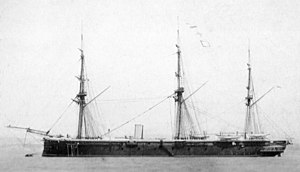 Palmers Shipbuilding and Iron Company - Image: HMS Defence (1861) after 1866