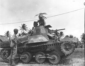1st Tank Division (Imperial Japanese Army) - Tank from IJA 9th Armored Regiment captured on Guam