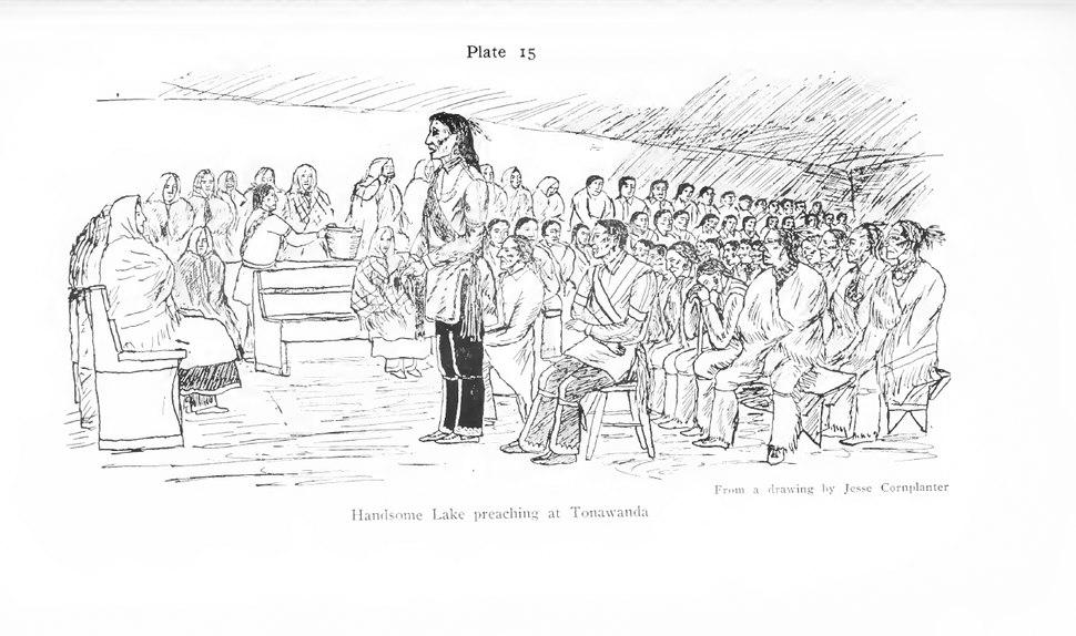 Handsome Lake Preaching at Tonawanda