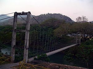 Hanging bridge at Thenmala