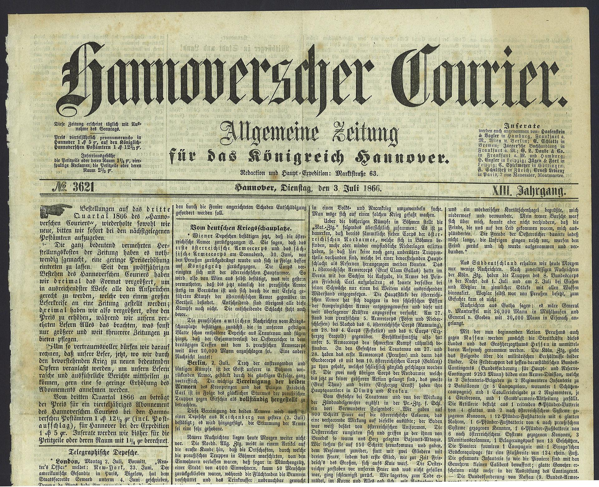 Kurier Wikipedia: Hannoverscher Kurier