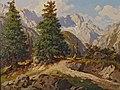 Hans Frahm - Blick auf Zugspitze und Höllental, 1928.jpg