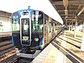 Hanshin 5701 Blue Ribbon Award at Daimotsu Station 20161009.jpg