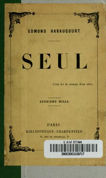File:Haraucourt - Seul, 1891.djvu