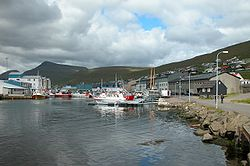 Harbour of Runavík, Faroe Islands.JPG