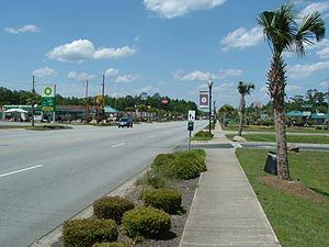 Hardeeville, South Carolina - U.S. Highway 17 in Hardeeville