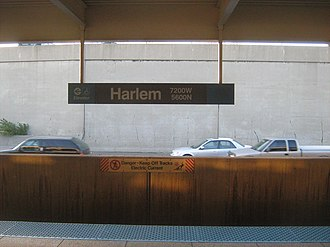 Harlem station (CTA Blue Line O'Hare branch) - Image: Harlem O'Hare CTA Platform