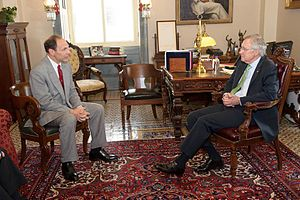 Robert A. McDonald - Senate Majority Leader Harry Reid meets with Veterans Affairs nominee Robert McDonald on July 16, 2014