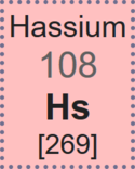 Periodic-table cell for hassium