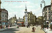 Hastings town centre postcard