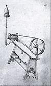 Hausbuch Wolfegg 34r Spinnrad.jpg